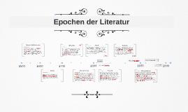 Epochen der Literatur