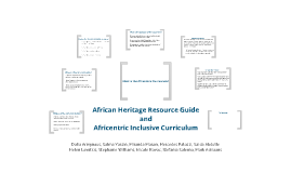 African Heritage Resource Guide