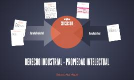DERECHO INDUSTRIAL - PROPIEDAD INTELECTUAL