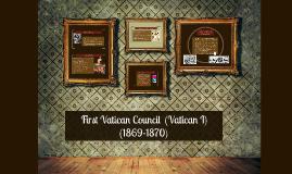 First Vatican Council (Vatican I)