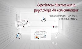 Experiences Diverses