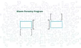 Bloom Forestry Program