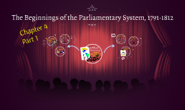 The Beginnings of the Parliamentary System 1791-1812