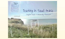ESL in Saudi Arabia