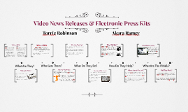 Video News Releases & Electronic Press Kits