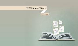 HSI Seminar Week 7
