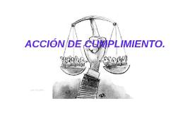 ACCIÓN DE CUMPLIMIENTO.