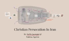 Christian Persecution In Iran