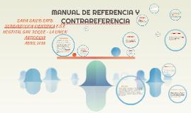 MANUAL DE REFERENCIA Y CONTRAREFERENCIA