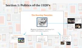 Politics of the 1920's