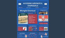 AVOIDING WRONGFUL DISMISSALS