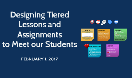 Designing Tiered Lessons and Assignments