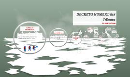 DECRETO NUMERO 838 DE2005