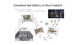 Formation and history of stock markets (Vznik a história burzových trhov )