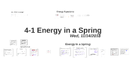 L4-1 Energy in a Spring