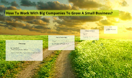 How To Work With Big Companies To Grow A Small Business?