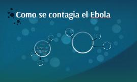 Como se contagia el Ebola