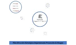 Plan Dirección Estratégica Departamento Prevención de Riesgo