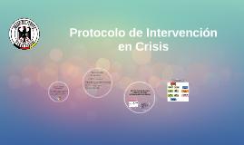 Protocolo para intervención en crisis
