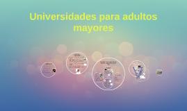 Universidades para adultos mayores