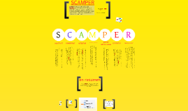 6 SCAMPER como Herramienta de innovación en el servicio