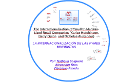 The Internationalisation of Small to Medium-Sized Retail Com