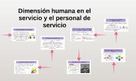 Dimensión humana en el servicio y el personal de servicio
