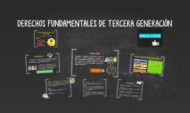 DERECHOS DE TERCERA GENERACIÓN