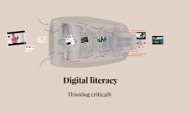 Digital literacy: thinking critically