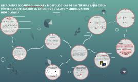 RELACIONES ECOHIDROLOGICAS Y MORFOLÓGICAS DE LAS TIERRAS BAJ