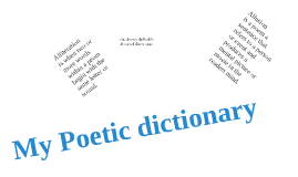 My poetic Dictionary