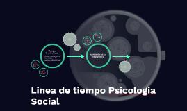 Linea de tiempo Psicología Social