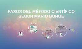 Copy of PASOS DEL MÉTODO CIENTÍFICO SEGUN MARIO BUNGE