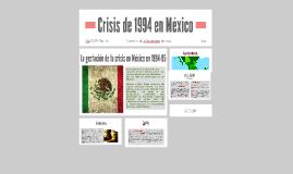 Crisis de 1994 en México