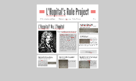 L'Hopital's Rule Project