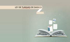 LEY DE TURISMO DE OAXACA