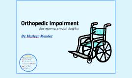 Orthopedic Imapairment