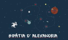 HIPATIA D' ALEXANDRIA