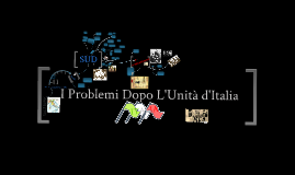 I PROBLEMI DOPO L' UNITA' D' ITALIA