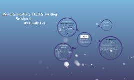 Pre-intermediate  IELTS  writing