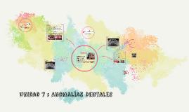 Copy of Unidad 7 : Anomalías Dentales