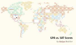 GPA vs. SAT Scores