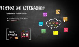 TEXTOS NO LITERARIOS 2016_1°MEDIO