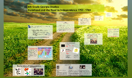 Copy of SS8H3 The students will analyze the role of Georgia in the A
