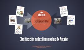 Clasificación de los Documentos de Archivo