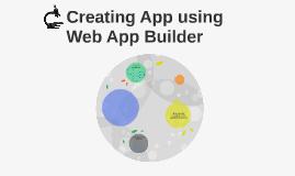 Creating App using Web App Builder