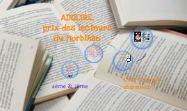 ADOLIRE1617, prix des lecteurs du Morbihan