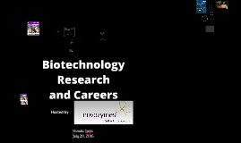 Copy of Biotechnology Research and Careers