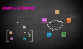 Copy of REGION DE LA ORINOQUIA