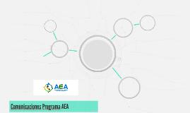 Comunicaciones Programa AEA